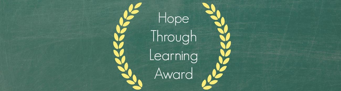 hope through learning award banner