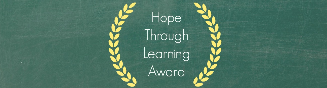 hope through learning award banner